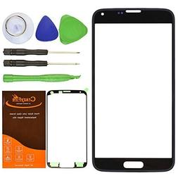CrazyFire Black New Front Outer Glass Lens Screen Replacemen