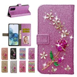 Bling Wallet Leather Magnetic Cover Case For Galaxy Note 20
