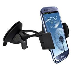 Car Mount Windshield Phone Holder Rotating Cradle Stand Wind