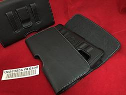 Leather Case with Magnetic closure with belt clip and belt l