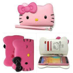 Hello Kitty Case Galaxy S5, S4 Wallet Case Cover Clutch 3Col