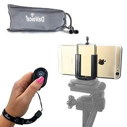 DaVoice Cell Phone Tripod Adapter - Bluetooth Remote Control