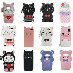 Cute 3D Cartoon Soft Silicone Phone Cases Cover For Samsung
