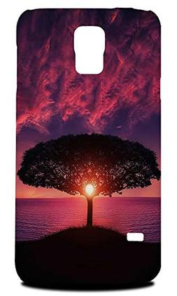 Cute Tree In Sunset #2 Hard Phone Case Cover for Samsung Gal