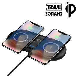 Dual Wireless Charger Fast Charging Pad For Samsung S9 S8 S2
