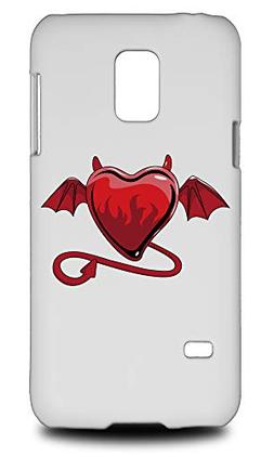 Evil Love Heart Hard Phone Case Cover for Samsung Galaxy S5