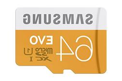 Samsung EVO 64GB  Micro SDXC Memory Card with Adapter up to