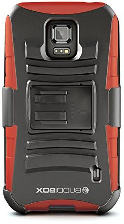 Galaxy S5 Active Case, BUDDIBOX  Heavy Duty Swivel Belt Clip