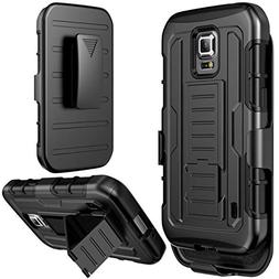 Galaxy S5 Active Case, S5 Active Holster Case By E LV - Full