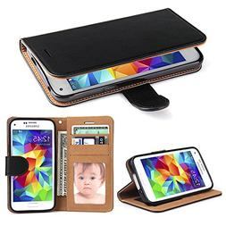 Galaxy S5 Case, SOWOKO  Samsung S5 Leather Wallet Case Flip