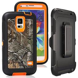 Galaxy S5 Case Camo,Harsel Defender Holster Heavy Duty Shock