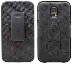 Galaxy S5 Case,Firefish  Durable Leather Flip Folio Wallet C