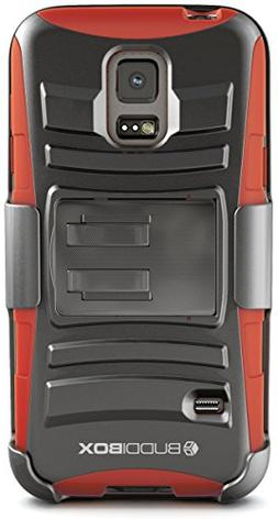 Galaxy S5 Mini Case, BUDDIBOX  Heavy Duty Swivel Belt Clip H