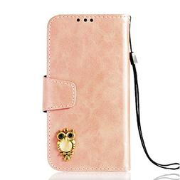Abtory Galaxy S5 Wallet Case,3D Bling Owl Retro Book Style F