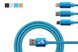 Outdoor Paradise Hi Speed 3-in-1 Cable | Type C/Lightning/Mi