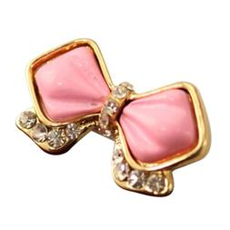 SODIAL Home Button Sticker - Delicate Pink Bowknot Bow with