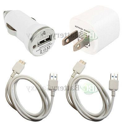 2 Micro USB 3.0 Cable Cord+Car+Wall Charger for Android Phon