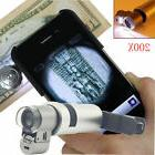 200X Optical Zoom HD Microscope Clip-on Camera Phones Lens L