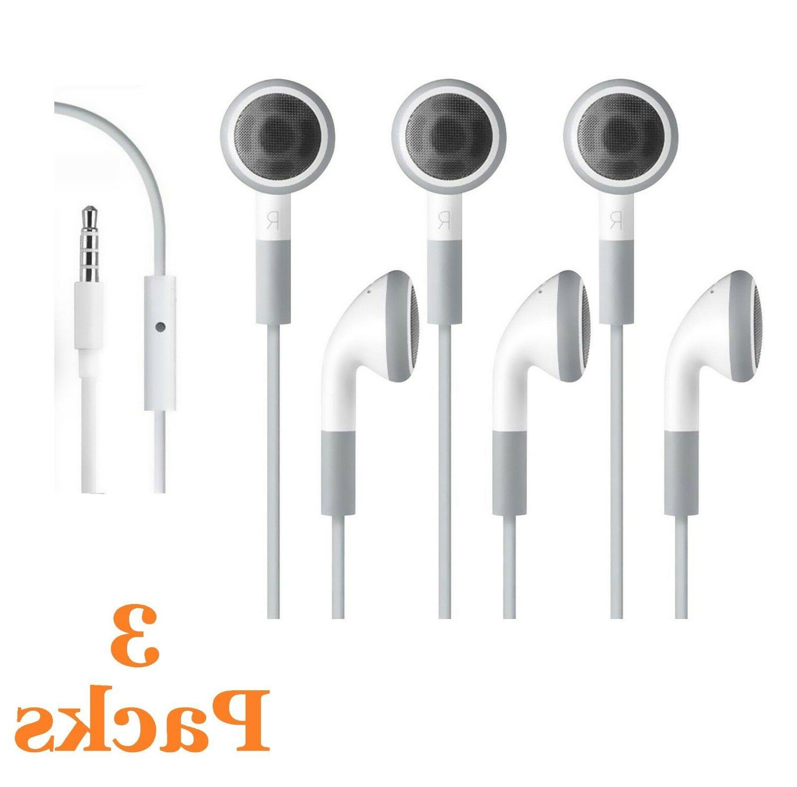 3 Pack Earphone with Microphone for Samsung Galaxy S SII SII