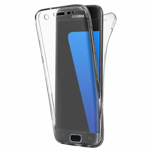 360° Full Shockproof Clear TPU Rubber Case Cover For Samsun