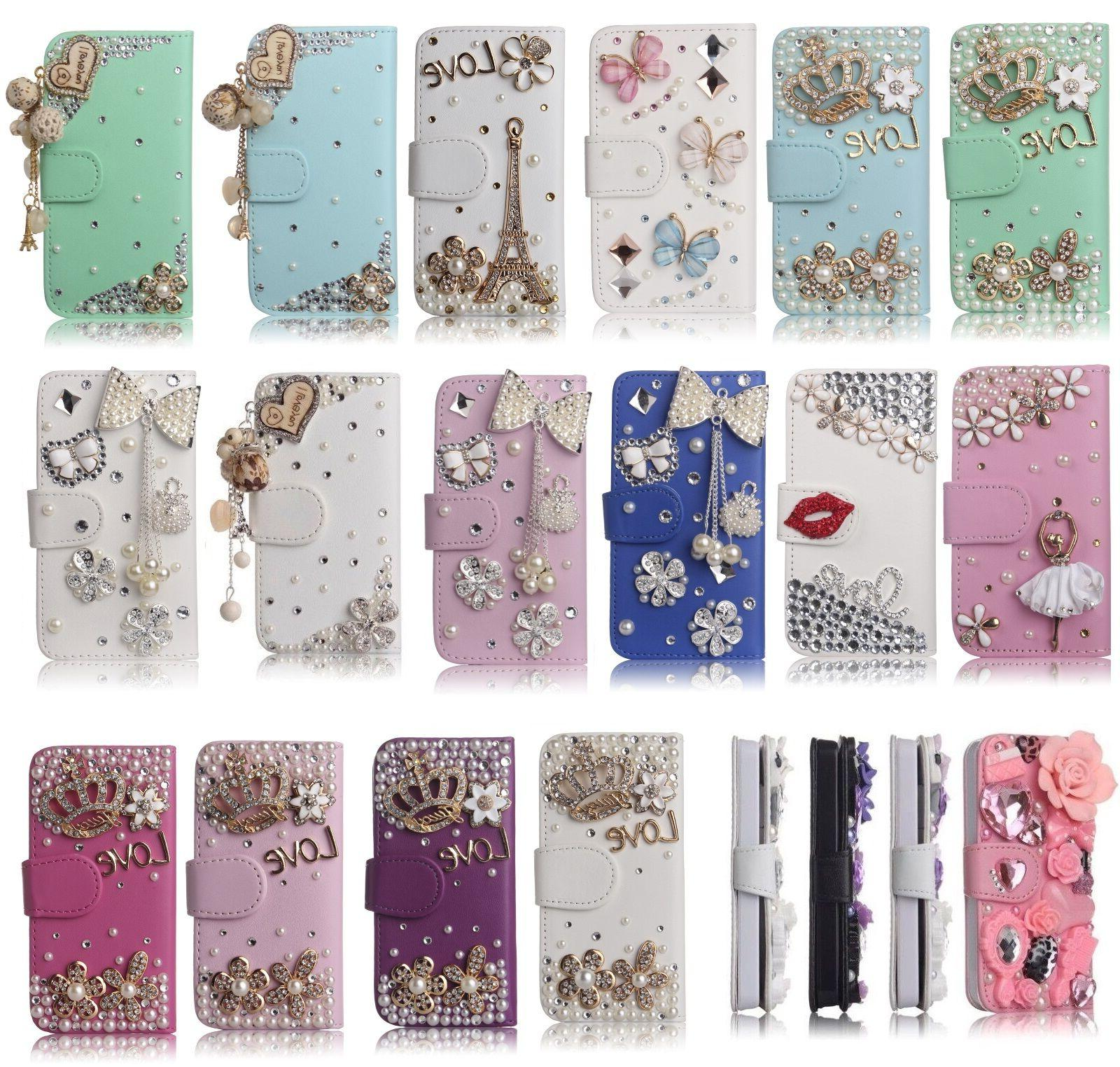 3D Bling Cases Crystal Rhinestone Luxury Bling Wallet Design