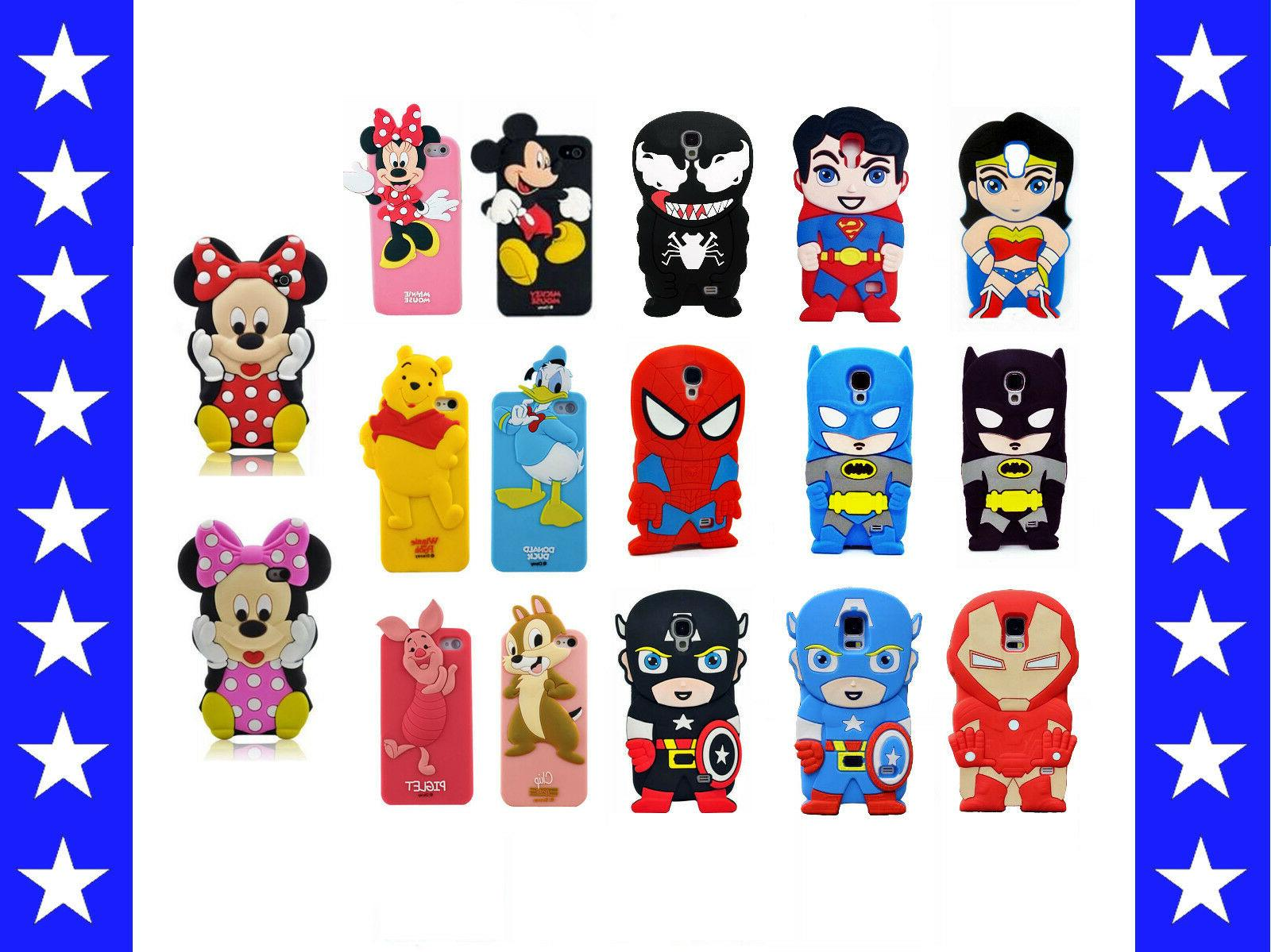 3D Cartoon Super Hero Soft Silicone Rubber Case Cover Samsun