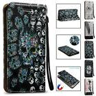 3D Pattern Card Wallet Shockproof Case Cover For Samsung Gal