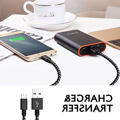 3Pack - Micro Short Nylon Speed for Galaxy S7/S6/S5,Note 5/4/3,HTC,LG,Nexus Sony and )