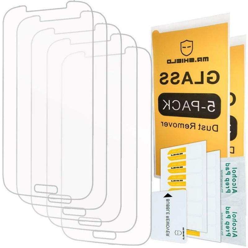 5 pack for samsung galaxy s4 tempered