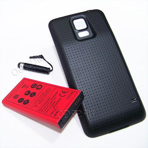8900mAh Extended Life Battery+Black Cover For Samsung Galaxy