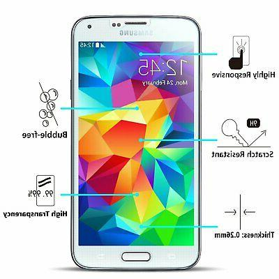 SOOYO Round Tempered for Galaxy S5-3Pack