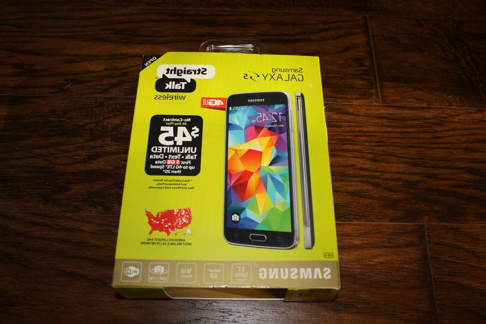 BRAND NEW Straight Talk Samsung Galaxy S5 Android 4G LTE Sma