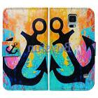 Bcov Black Anchor Card Slot Wallet Leather Case Cover For Sa