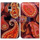Bcov Pink Paisley Leather Wallet Case Cover For Samsung Gala