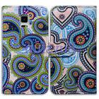 Bcov Stylish Paisley Leather Wallet Case Cover For Samsung G