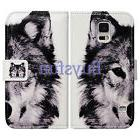 Bcov Wolf Pattern Leather Wallet Cover Case For Samsung Gala