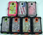 Camo Defender Series Case for Galaxy S5 with Free Belt Clip
