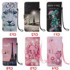 Eiffel Tower Flip Stand Card Slots Wallet Cover Case For Sam