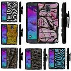 FOR SAMSUNG GALAXY PHONES HEAVY DUTY CAMO ARMOR HYBRID CASE