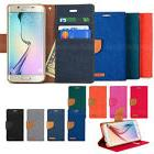 Fabric Canvas Leather Flip Wallet case cover for iPhone X/ G