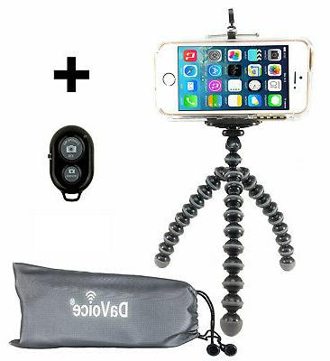 Flexible Tripod + Remote for iPhone 7 6s 6 5s 5 SE 8 X Galax