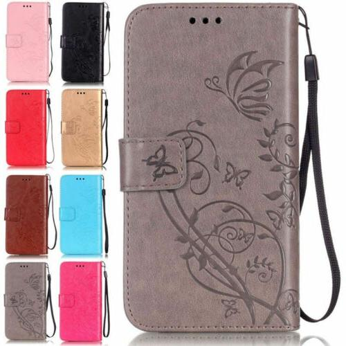 Flip Leather Wallet Phone Case Cover With Strap For Samsung