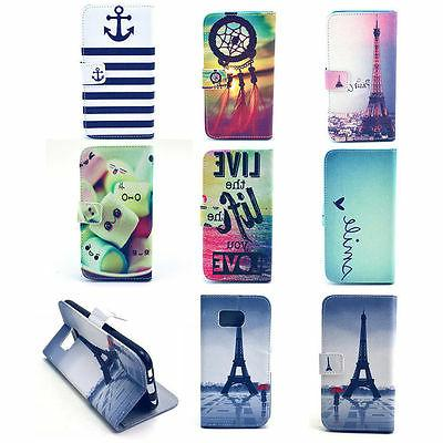 Flip New Skins Wallet Leather Case Cover Stand For Samsung G