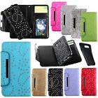 For Galaxy S9/S7/Note5/S8+ Leather Diamonds Magnetic Detacha