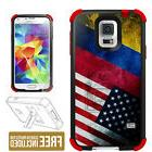 For Samsung Galaxy S5 3 Piece Hybrid Case Colombia USA Flag