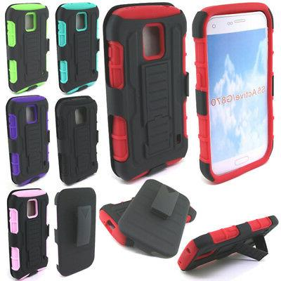 For Samsung Galaxy S5 ACTIVE G870A Future Armor Hybrid Stand