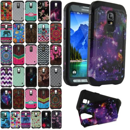 For Samsung Galaxy S5 ACTIVE G870A Hybrid Hard Silicone Dual