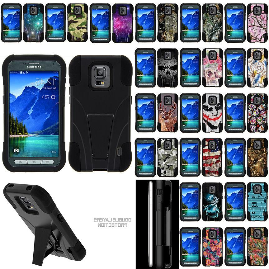 For Samsung Galaxy S5 Active G870 Hybrid Case Dual Layer Pro