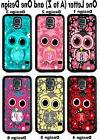 For Samsung Galaxy S5 Cute Owl Flowers Group 1 Personalized