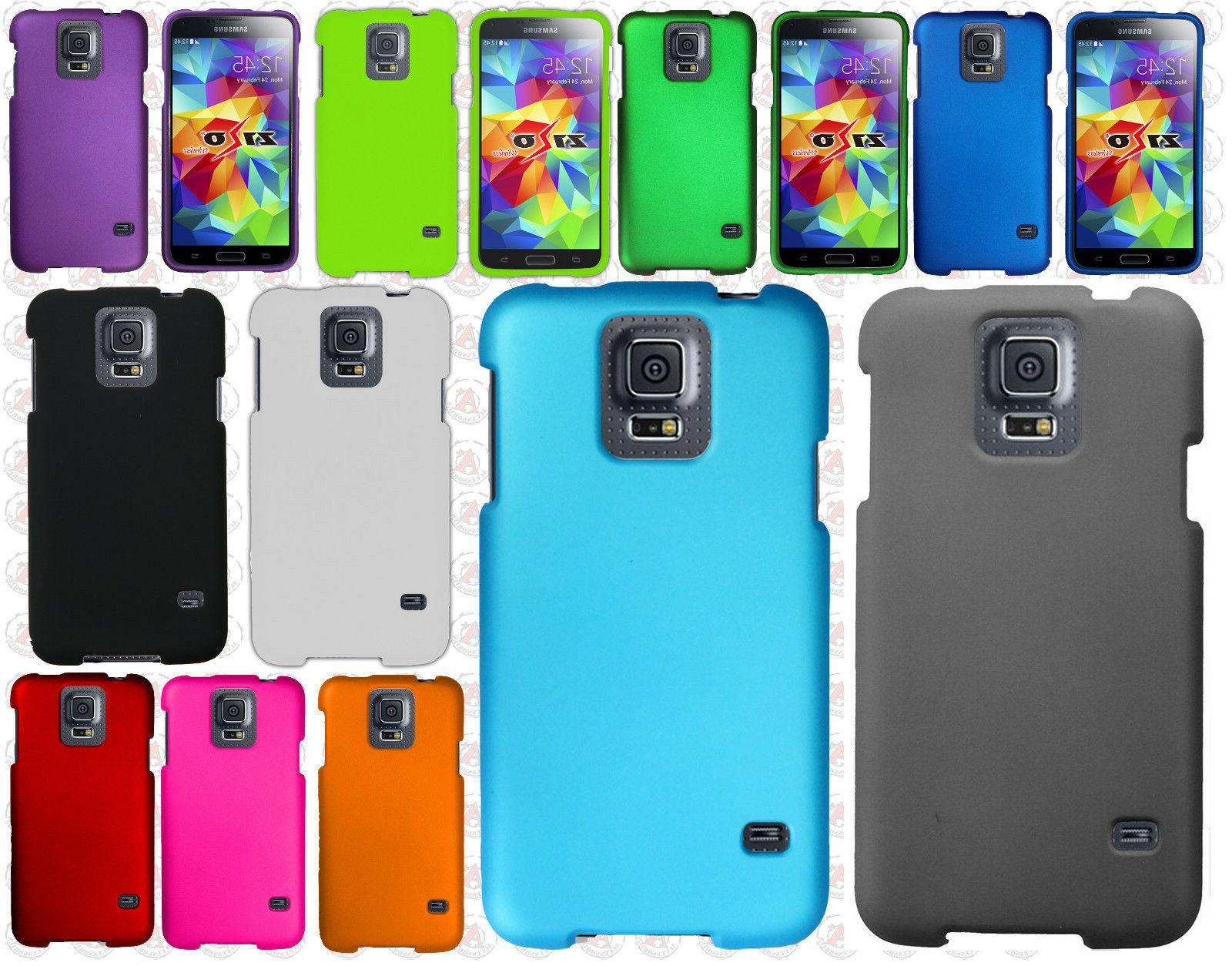 For Samsung Galaxy S5 HARD Rubberized HARD Protector Case Ph